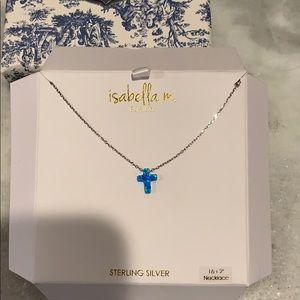 Dainty blue cross